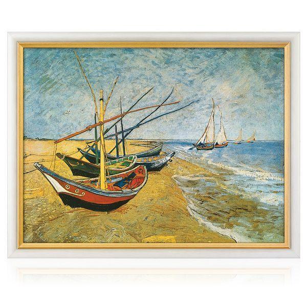 van Gogh, Vincent: »Fischerboote am Strand von Saintes-Maries« (1888)