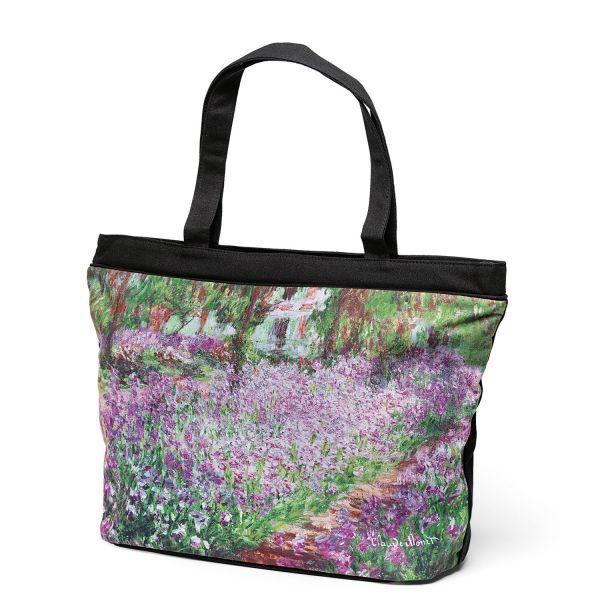 Tasche »Irisbeet in Monets Garten«