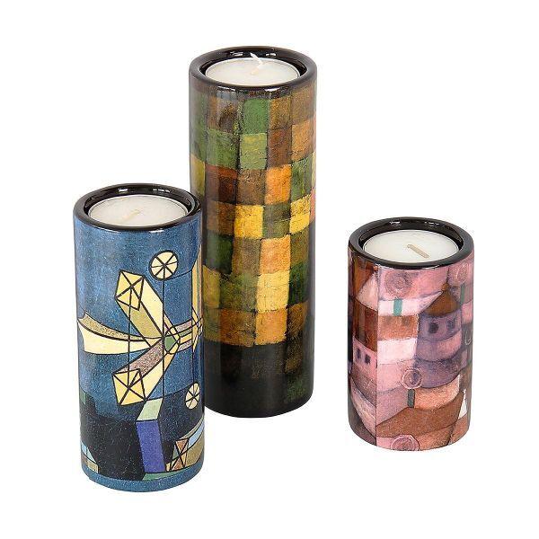 3 Teelichthalter aus Porzellan im Set