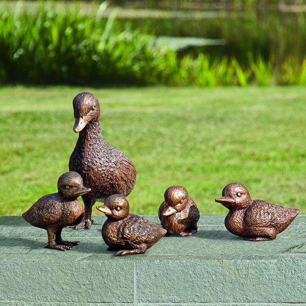 Gartenskulpturen »Entenfamilie«