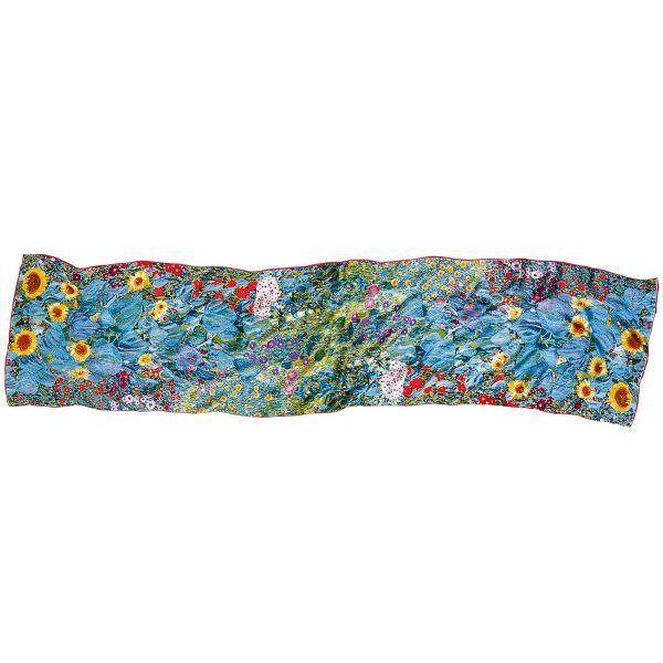 Seidenschal »Bauerngarten mit Sonnenblumen«, nach Gustav Klimt