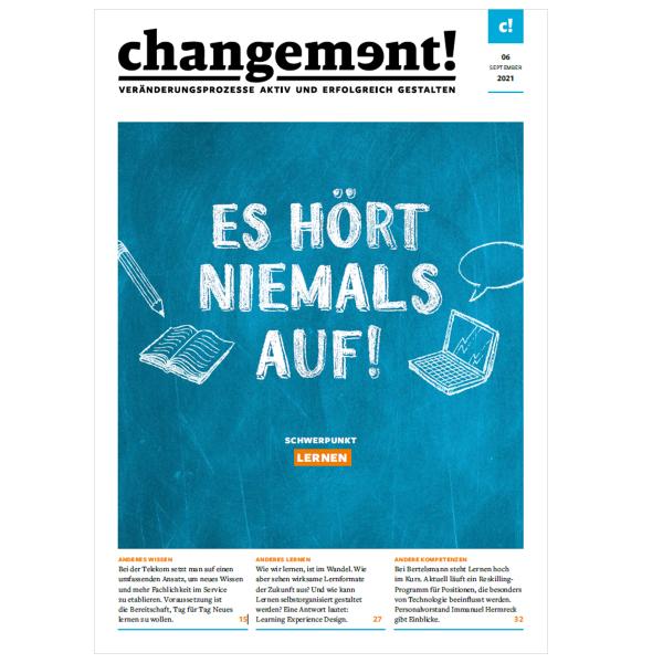 changement! Ausgabe 06/21: Lernkultur und Lernmethoden
