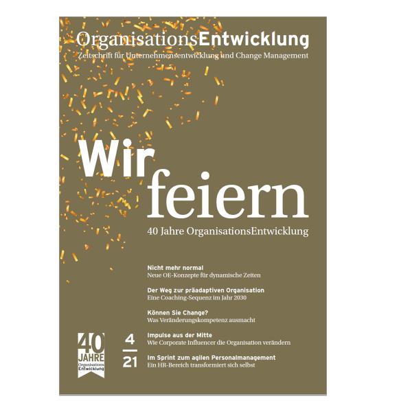OrganisationsEntwicklung 04/2021: Jubiläumsausgabe 40 Jahre