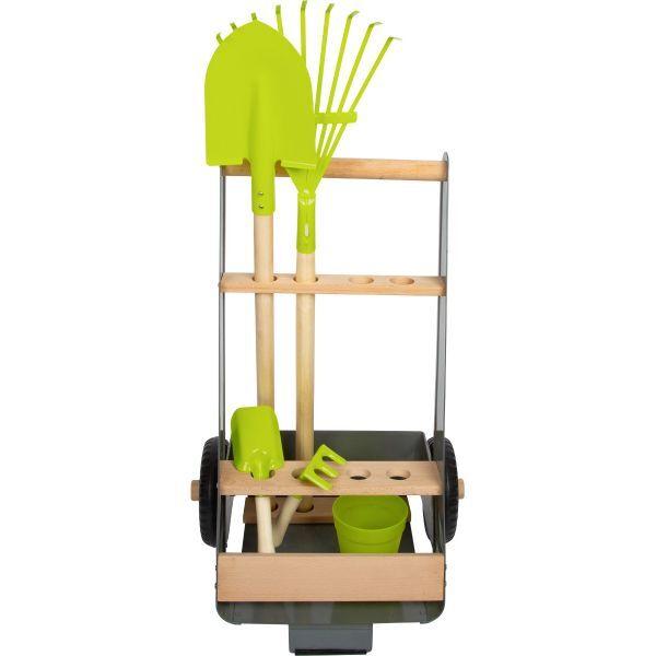 Gartentrolley mit Werkzeug-Set für Kinder