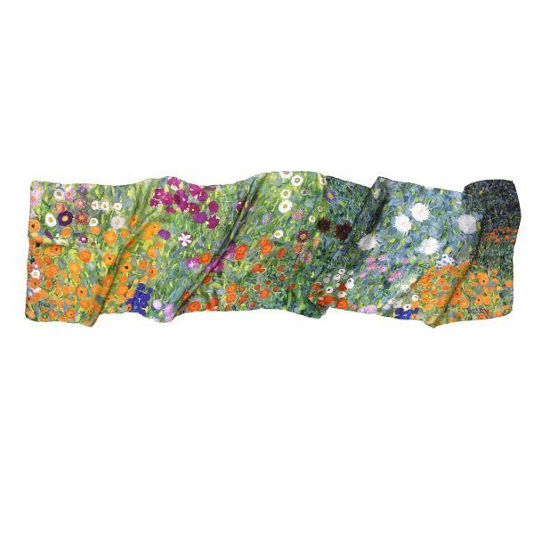 Seidenschal »Bauerngarten«, nach Gustav Klimt