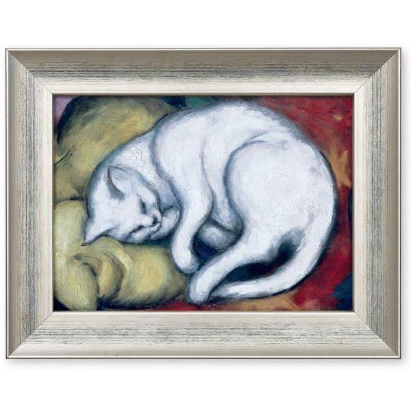 Marc, Franz: »Die weiße Katze« (Kater auf gelbem Kissen), 1912