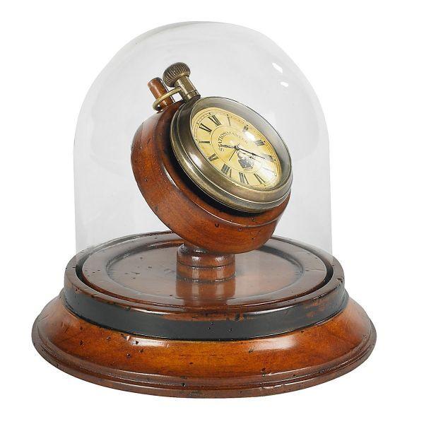Viktorianische Uhr mit Glasglocke