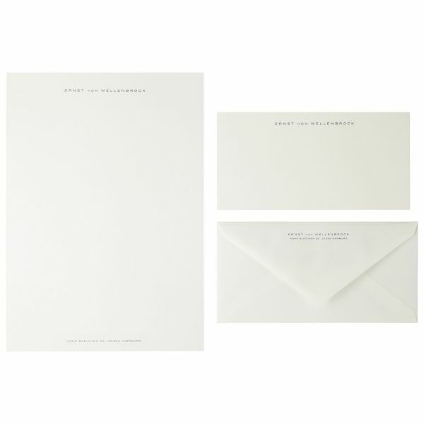 A4-Briefpapier, Dunkelblau