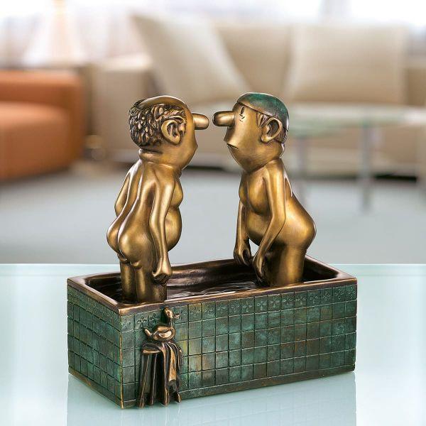 Loriot: Skulptur »Herren im Bad«