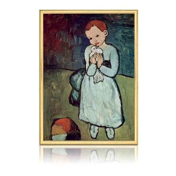 Picasso, Pablo: »Mädchen mit Taube«