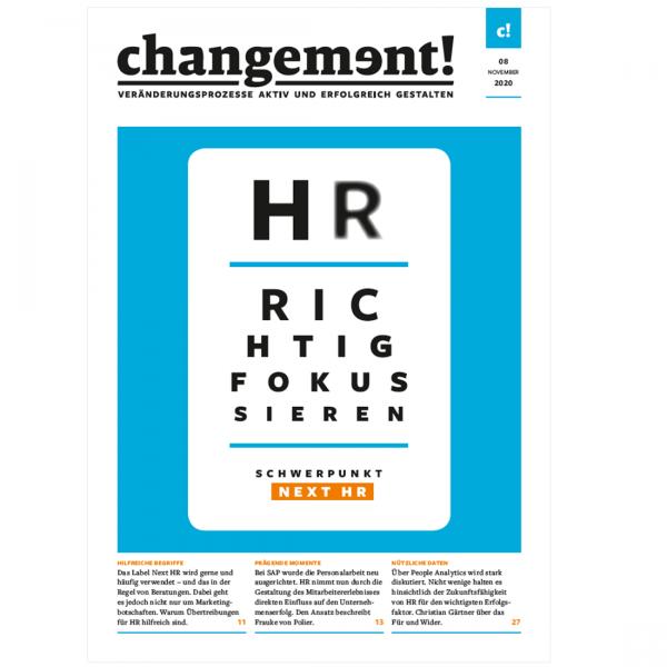 changement! Ausgabe 08/20: Next HR