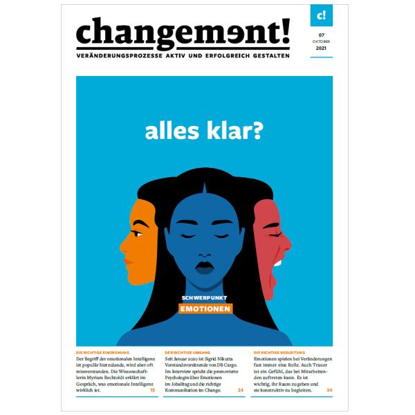 changement! Ausgabe 07/21: Die Rolle der Emotionen im Change