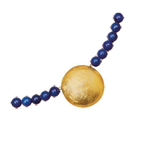 Collier »Sonnenscheibe« mit Lapislazuli-Perlen nach Petra Waszak