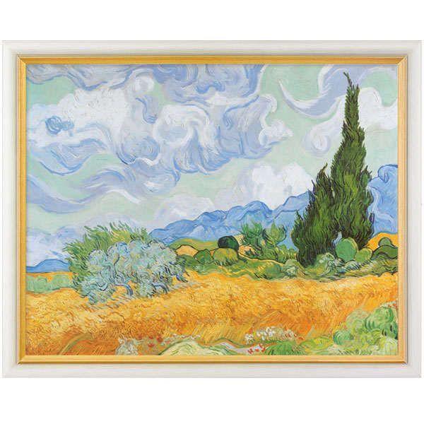 van Gogh, Vincent: »Weizenfeld mit Zypressen«, 1889