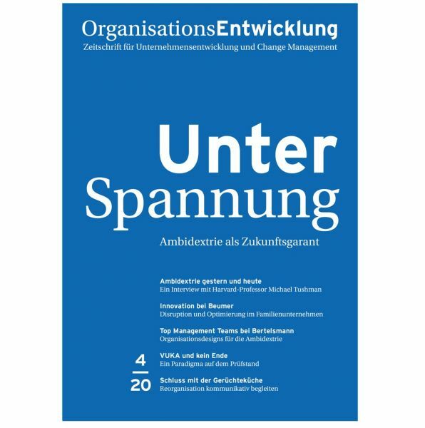OrganisationsEntwicklung 04/2020: Unter Spannung