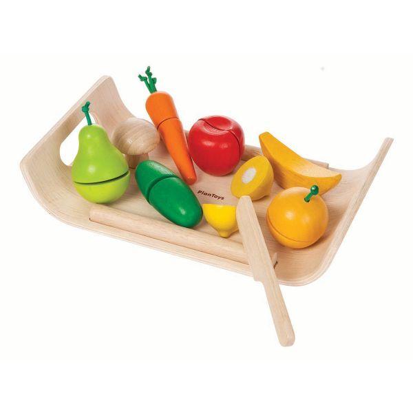Schneidebrett mit Obst & Gemüse