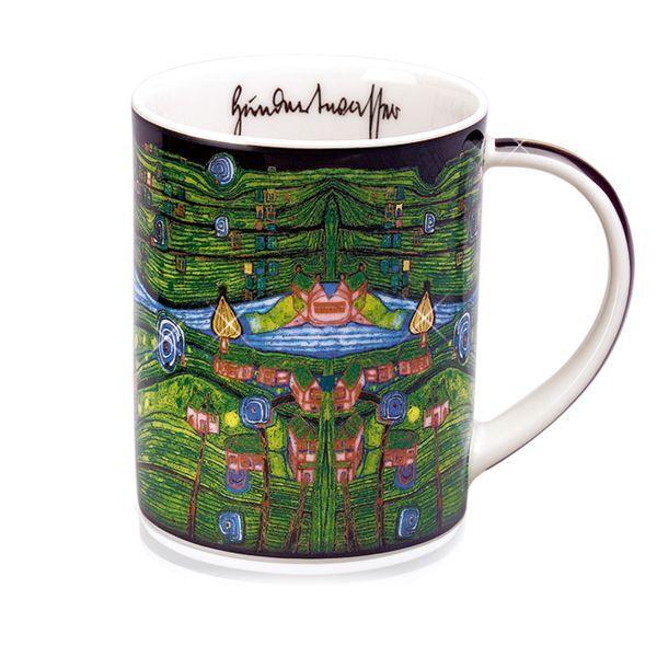 Magic Mug »Grass for Those Who Cry«, nach Friedensreich Hundertwasser