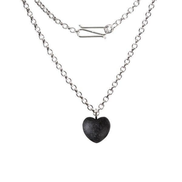 Martin Hardt - Sterling Silber Edition: Ovalankerkette mit Herzanhänger