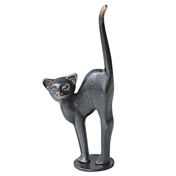Stark, Kerstin: »Katze mit Buckel«, Bronze