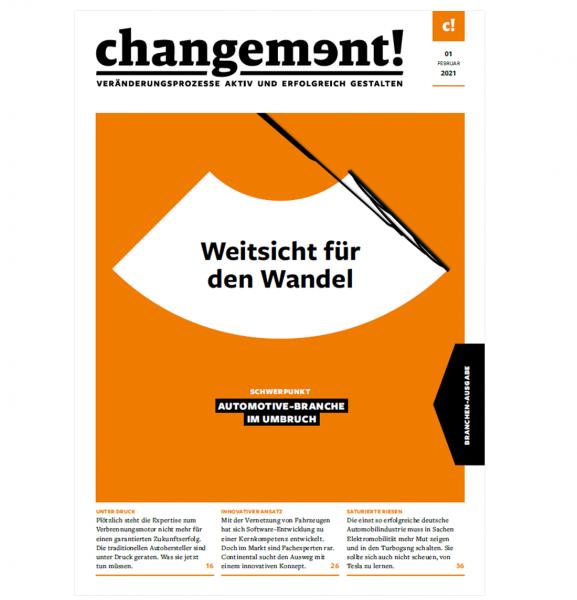 changement! Ausgabe 01/21: Automotive-Branche im Umbruch