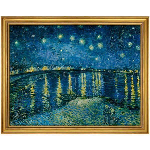 van Gogh, Vincent: »Sternennacht über der Rhône«, 1888