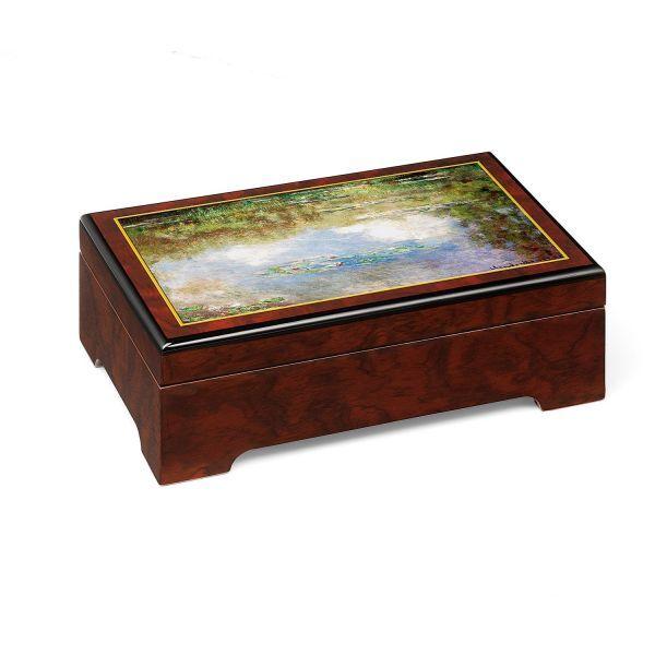 Musik-Schmuckbox: »Seerosen«, nach Claude Monet