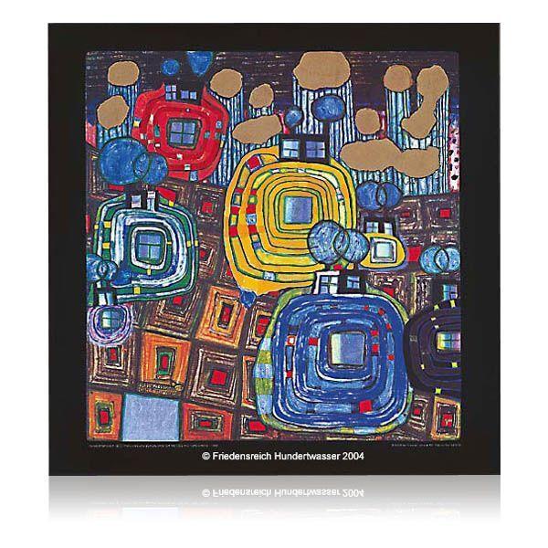 Sektglas »Pavillions and Bungalows«, nach Friedensreich Hundertwasser