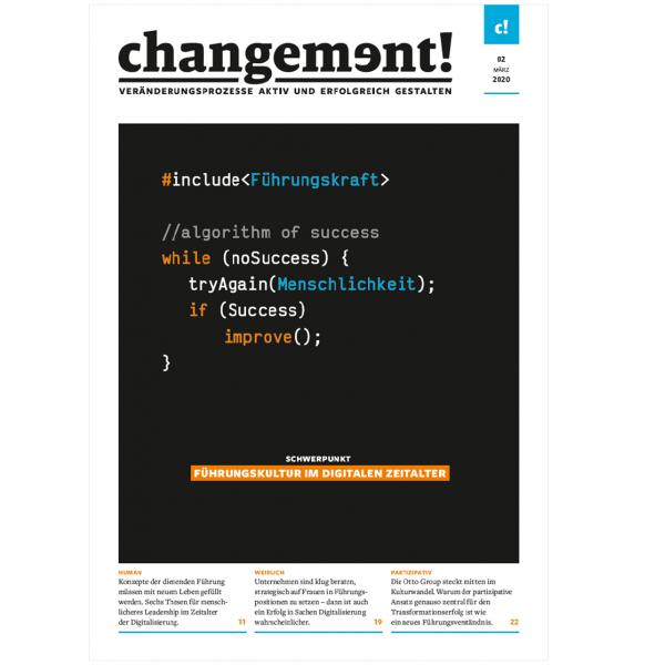 changement! Ausgabe 02/20: Führungskultur im digitalen Zeitalter