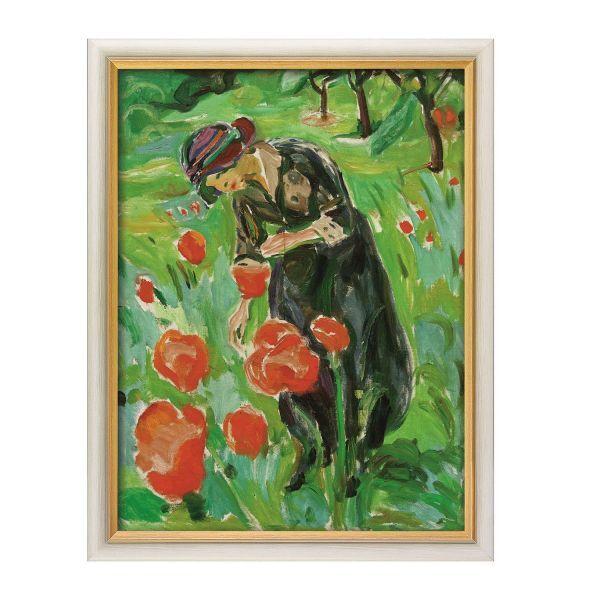 Munch, Edvard: »Frau mit Mohnblumen«, 1918/19