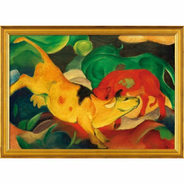 Marc, Franz: »Kühe, gelb, rot, grün«, 1911